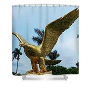 Golden Eagle Take Off Shower Curtain