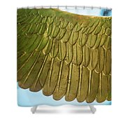 Golden Eagle Wing Shower Curtain