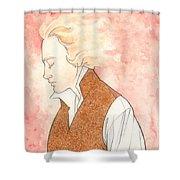 Golden Enjolras Shower Curtain