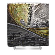 Golden Eye Shower Curtain