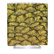 Golden Feathers Shower Curtain