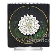 Golden Flower Mandala Shower Curtain