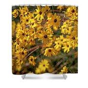 Golden Flowers Shower Curtain