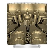 Golden Fractal #1 Shower Curtain