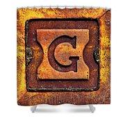 Golden G Shower Curtain