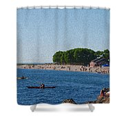Golden Gardens In Seattle Washington Shower Curtain