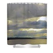 Golden Gardens Sunset Shower Curtain