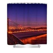 Golden Gate At Dusk Shower Curtain