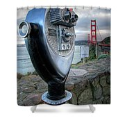 Golden Gate Binoculars Shower Curtain