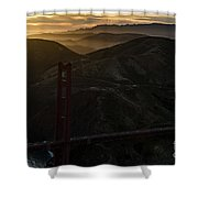 Golden Gate Bridge And Marin County At Sunset Shower Curtain