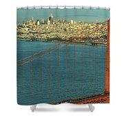 Golden Gate Bridge And San Francisco Skyline Shower Curtain