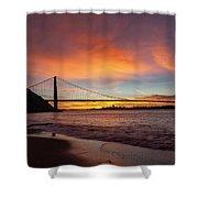 Golden Gate Bridge At Dawn Shower Curtain
