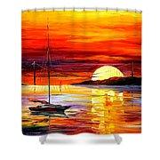 Golden Gate Bridge By The Sunset Shower Curtain