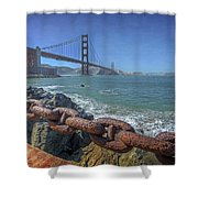 Golden Gate Bridge Shower Curtain by Everet Regal