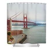 Golden Gate Bridge Fort Point Shower Curtain
