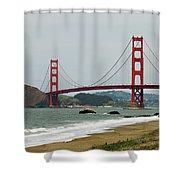 Golden Gate Bridge From Baker Beach Shower Curtain