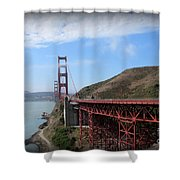 Golden Gate Bridge From The Scenic Lookout Point Shower Curtain