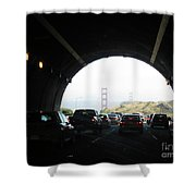 Golden Gate Bridge From Tunnel Shower Curtain