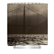 Golden Gate Bridge In The Fog, Black And White, San Francisco, California Shower Curtain