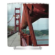 Golden Gate Bridge Low Point Of Cable Shower Curtain