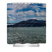 Golden Gate Bridge Panoramic Shower Curtain