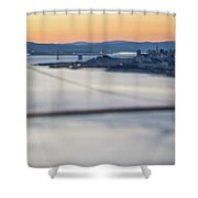 Golden Gate Bridge San Francisco California West Coast Sunrise Shower Curtain