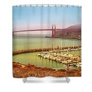 Golden Gate Bridge Sausalito Shower Curtain
