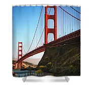 Golden Gate Bridge Sausalito Shower Curtain by Doug Sturgess
