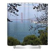Golden Gate Bridge Through The Trees Shower Curtain