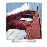 Golden Gate Bridge Tower Shower Curtain
