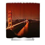 Golden Gate Evening Shower Curtain