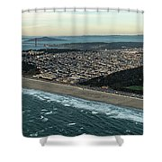Golden Gate Park And Ocean Beach In San Francisco Shower Curtain