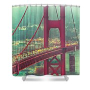 Golden Gate Portrait Shower Curtain