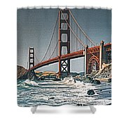 Golden Gate Surf Shower Curtain