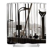 Golden Gate Suspension Shower Curtain