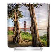 The Trees Of The Golden Gate Shower Curtain