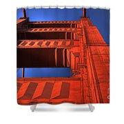 Golden Gate Tower Shower Curtain