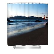 Golden Gate Tranquility Shower Curtain