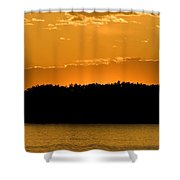 Golden Glow Sunset Shower Curtain
