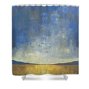 Golden Glow Shower Curtain