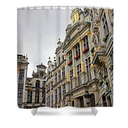 Golden Grand Place Shower Curtain