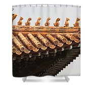 Golden Guardians Of The Forbidden City Shower Curtain