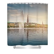 Golden Hamburg Shower Curtain
