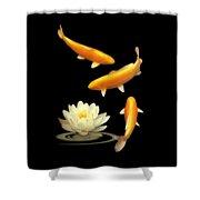 Golden Harmony Vertical Shower Curtain