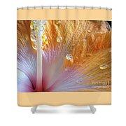 Golden Hibiscus Shower Curtain