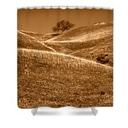 Golden Hills Of California Photograph Shower Curtain