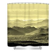 Golden Hills Of The Tonto Shower Curtain