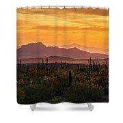 Golden Hills  Shower Curtain