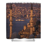 Golden Horn At Sunset From Suleymaniye Shower Curtain