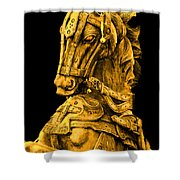 Golden Horse Shower Curtain